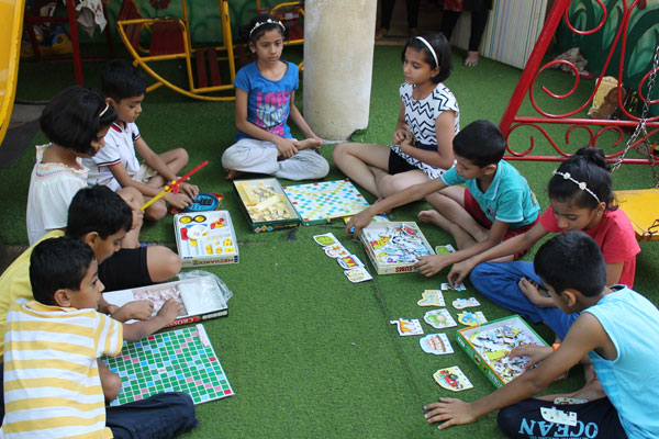 Brain Game activity at mamata day care center