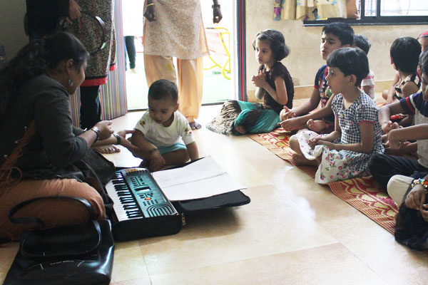 Singing activity at mamata day care center
