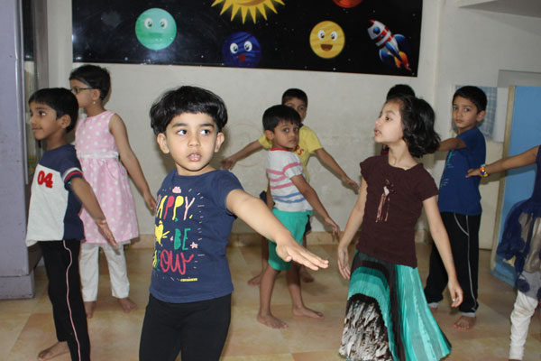 Yoga activity at mamata day care center